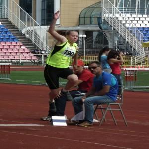 В прыжке Карина Илясова